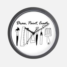 Draw Paint Create Wall Clock