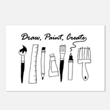 Draw Paint Create Postcards (Package of 8)