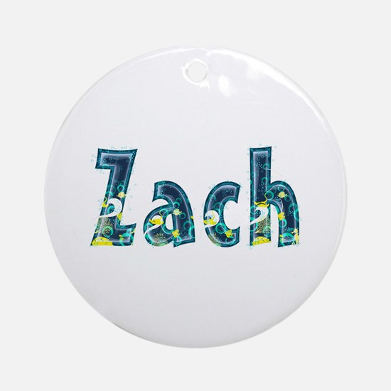 Zach Under Sea Round Ornament