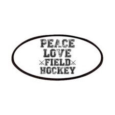Peace, Love, Field Hockey Patches