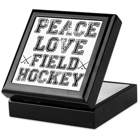 Peace, Love, Field Hockey Keepsake Box