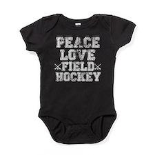 Peace, Love, Field Hockey Baby Bodysuit