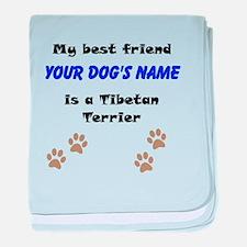 Custom Tibetan Terrier Best Friend baby blanket