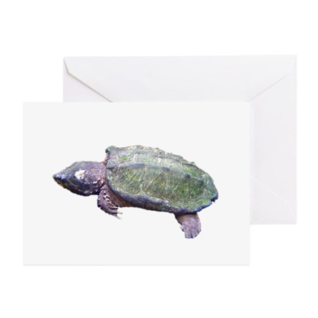 alligator snapping turtle Greeting Cards (Package
