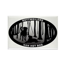 Van Het Bos Rottweilers Oval large Rectangle Magne