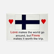 Love Finns Rectangle Magnet
