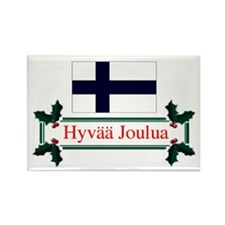 Finland Hyvaa Joulua Rectangle Magnet