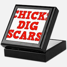 Chicks Dig Scars Keepsake Box