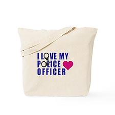 I love my Police Officer Tote Bag