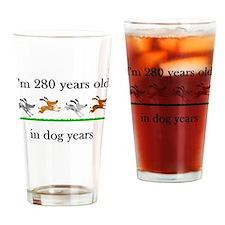 40 birthday dog years 1 Drinking Glass