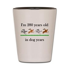 40 birthday dog years 1 Shot Glass