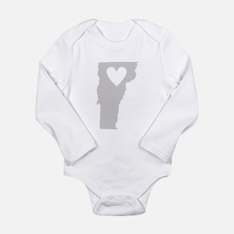 Heart Vermont Long Sleeve Infant Bodysuit