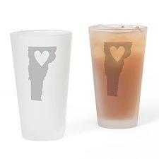 Heart Vermont Drinking Glass