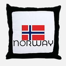 I HEART NORWAY FLAG Throw Pillow