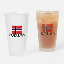 I HEART NORWAY FLAG Drinking Glass