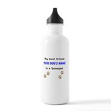Custom Samoyed Best Friend Water Bottle