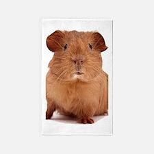 guinea pig face 3'x5' Area Rug