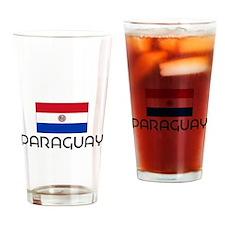 I HEART PARAGUAY FLAG Drinking Glass