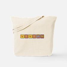 Vivian Foam Squares Tote Bag