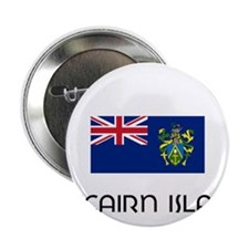 "I HEART PITCAIRN ISLAND FLAG 2.25"" Button"