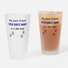 Custom Pit Bull Best Friend Drinking Glass