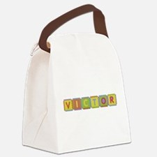 Victor Foam Squares Canvas Lunch Bag