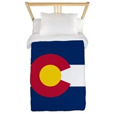 Colorado Flag Twin Duvet