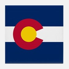 Colorado Flag Tile Coaster