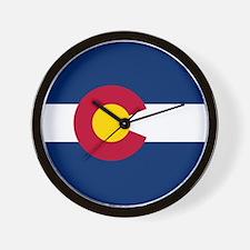 Colorado Flag Wall Clock