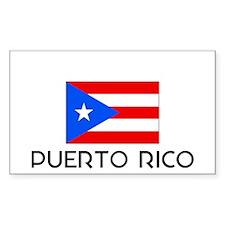 I HEART PUERTO RICO FLAG Decal