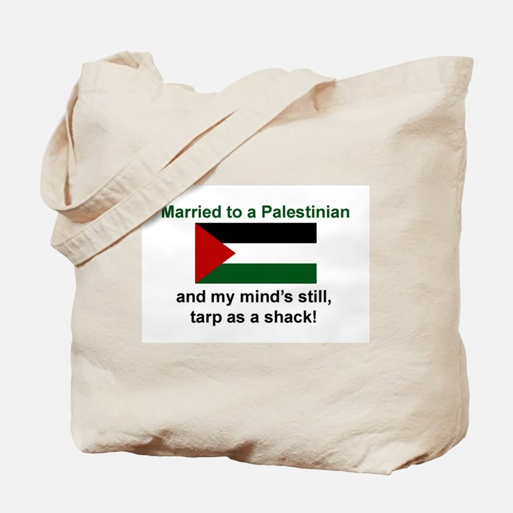 Married To A Palestinian Tote Bag