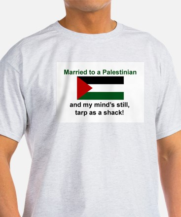 Married To A Palestinian Ash Grey T-Shirt