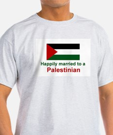 Happily Married To Palestinian Ash Grey T-Shirt