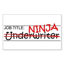 Job Ninja Underwriter Decal
