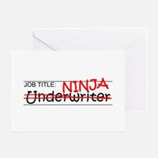 Job Ninja Underwriter Greeting Card