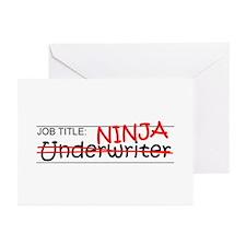 Job Ninja Underwriter Greeting Cards (Pk of 20)