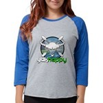Yakhappy Blue Womens Baseball Tee