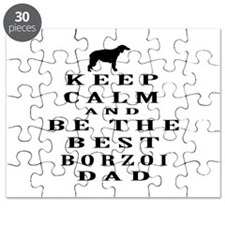 Keep Calm Borzoi Designs Puzzle