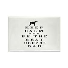 Keep Calm Borzoi Designs Rectangle Magnet