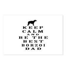Keep Calm Borzoi Designs Postcards (Package of 8)