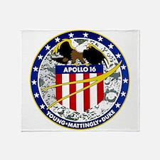 Apollo 16 Logo Throw Blanket