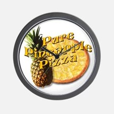 PURE PINEAPPLE PIZZA Wall Clock