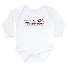 Job Ninja Trainer Long Sleeve Infant Bodysuit