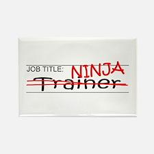 Job Ninja Trainer Rectangle Magnet