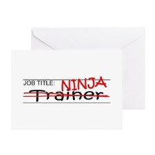 Job Ninja Trainer Greeting Card