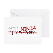 Job Ninja Trainer Greeting Cards (Pk of 20)