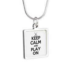 Keep Calm and Play On - Field Hockey Necklaces