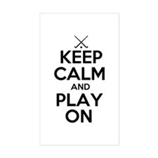 Keep Calm and Play On - Field Hockey Decal