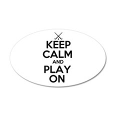 Keep Calm and Play On - Field Hockey Wall Decal