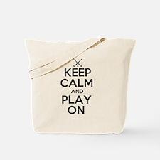 Keep Calm and Play On - Field Hockey Tote Bag